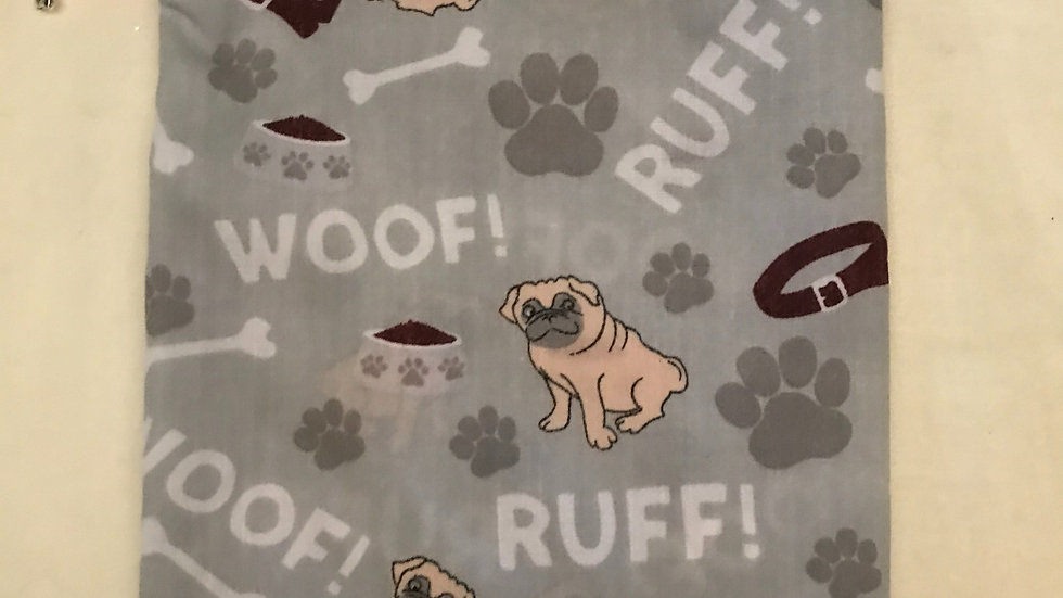 Grey Ruff and Woof with pugs