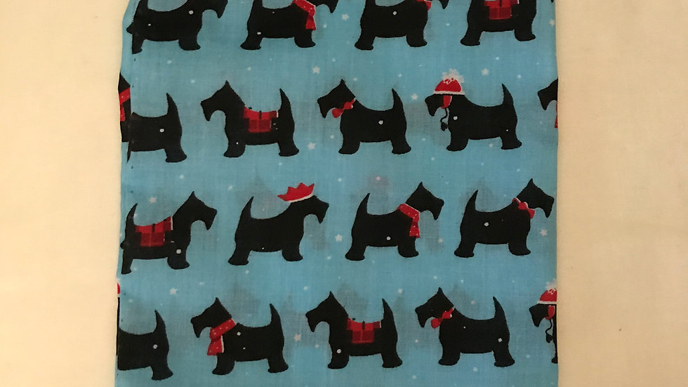 Christmas scottie dogs design in Blue