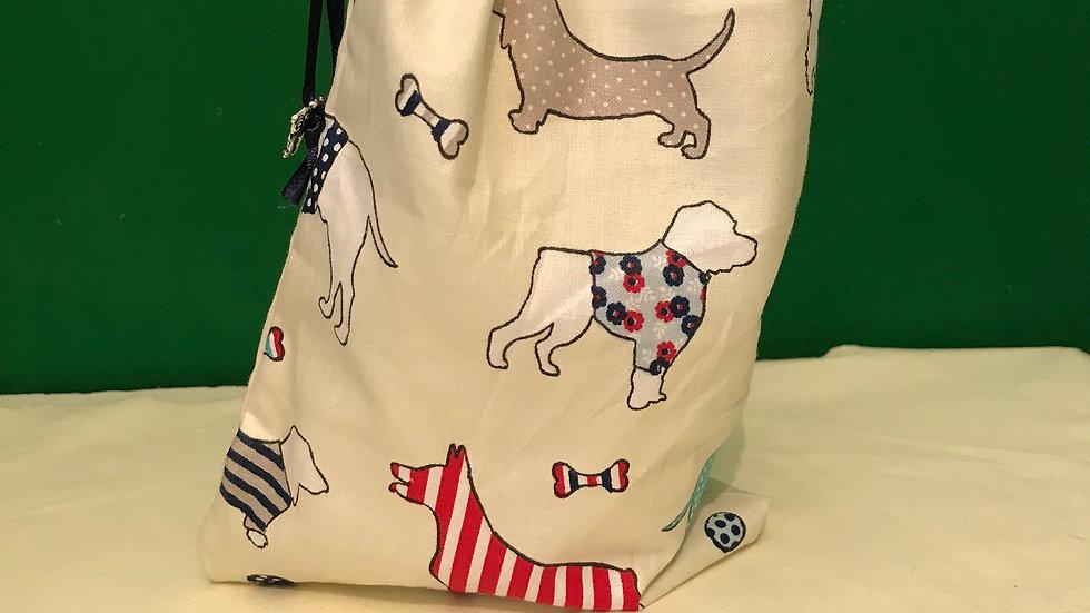 Cream with colourful multi dogs design