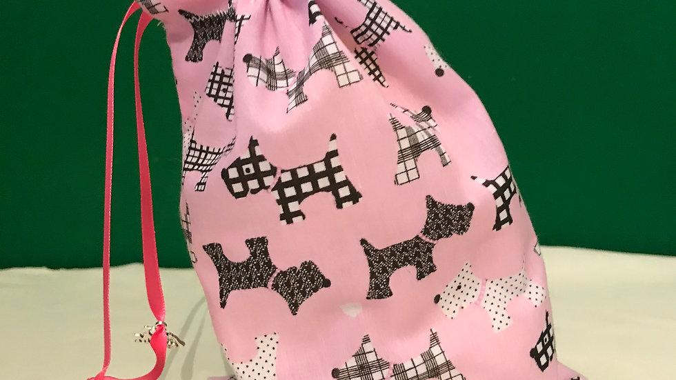 Pink with scottie dog design