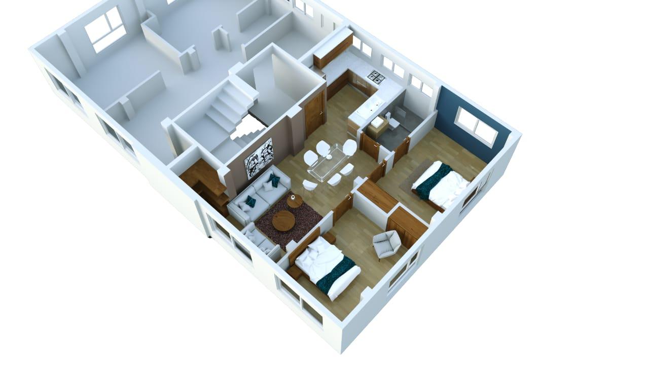 Nueva implantación dept 2 dormitorios