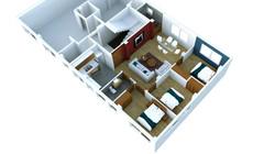 Nueva implantación Dept. 3 dormitorios