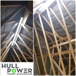 Loft Light Installation, Hull, Hull Elec
