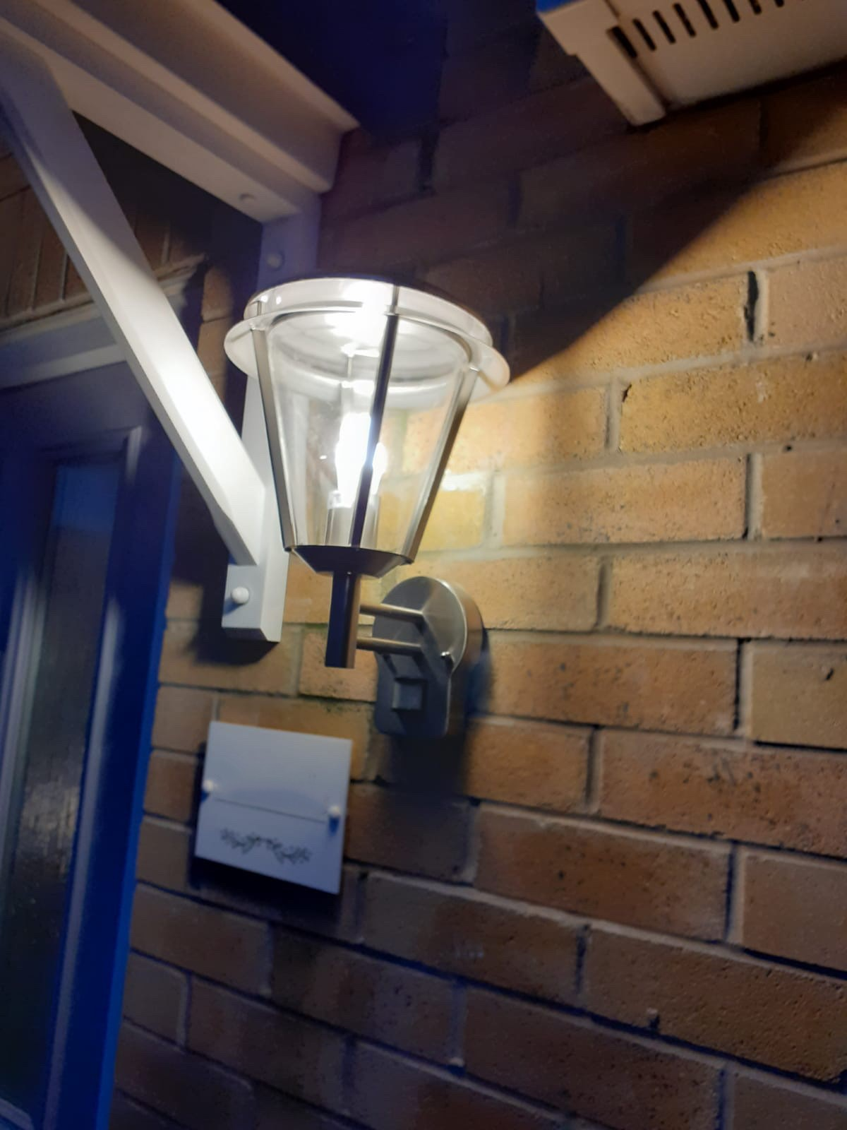 Outdoor Wall Light Installation, Hull, E