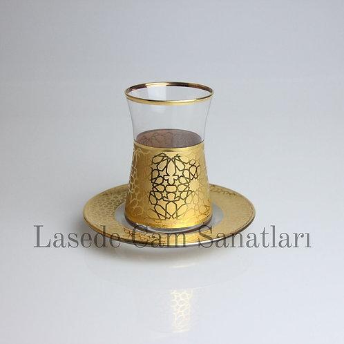 Selçuklu Altın Kaplama Çay Takımı