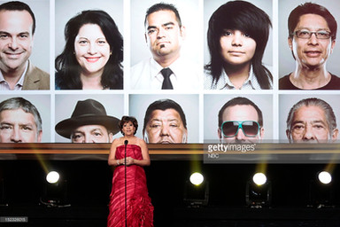 As shown at the 2012 NCLR ALMA Awards 'Award Show' on NBC