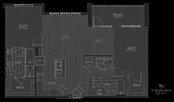 sketched reverse floorplan
