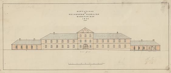 Barracks Queen Street elevation
