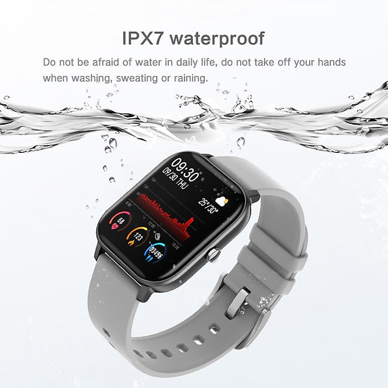Waterproof Smart Watch + Fitness Tracker