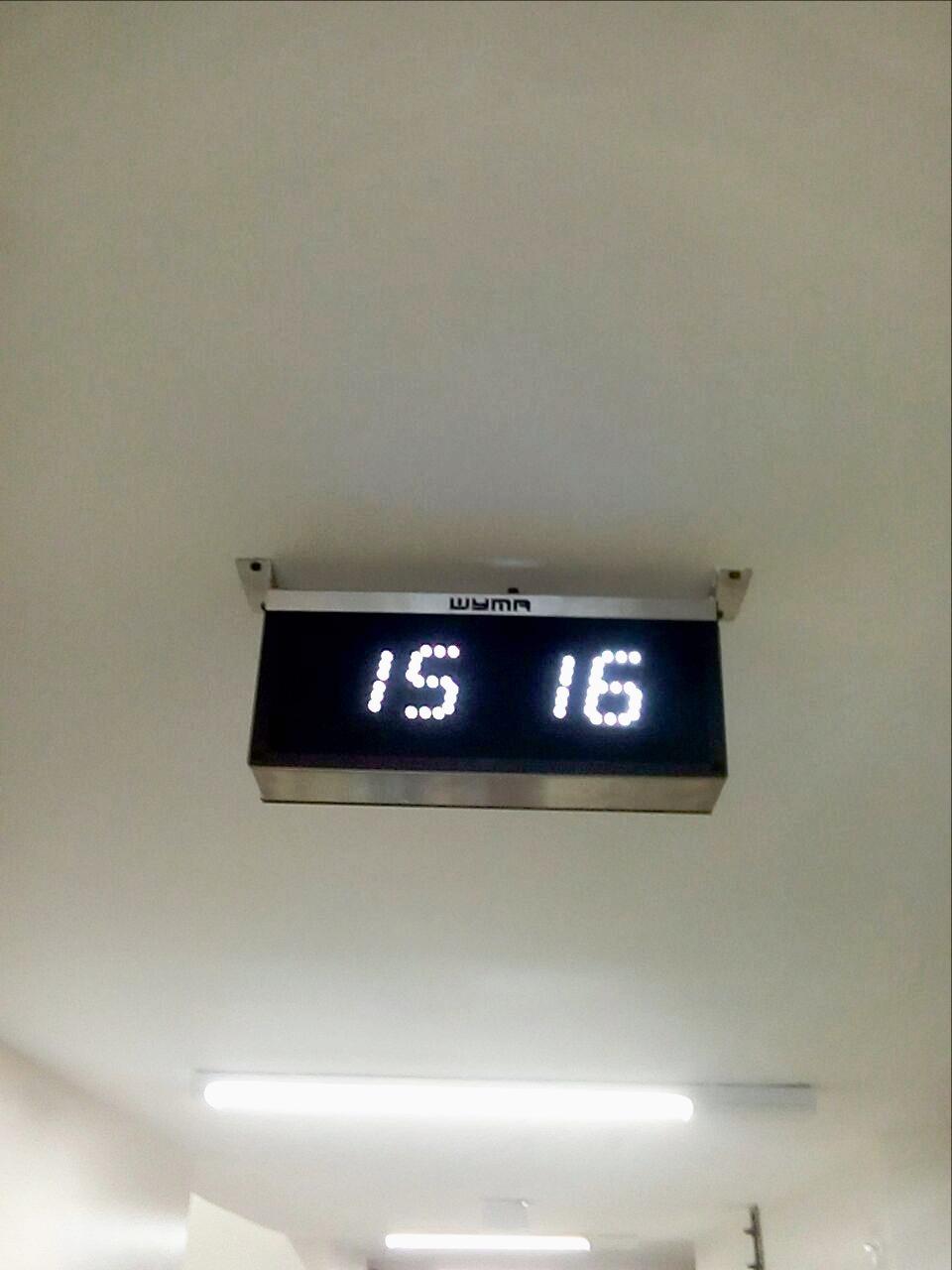 Painel relógio, data, termômetro