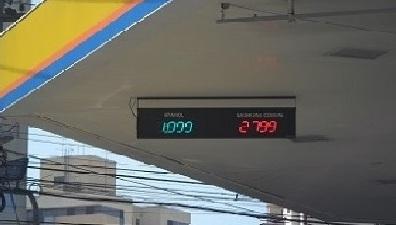 Painel indicador de preços postos