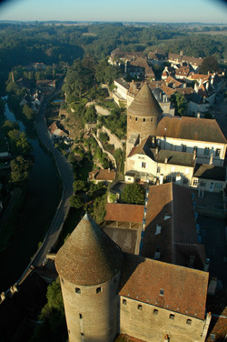 le quartier du château vu du donjon