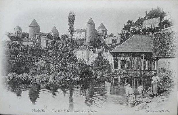 Semur en Auxois vers 1900