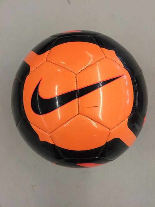 nike soccer ball orange black