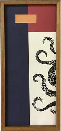 Colagem Retângulos e Tentáculos