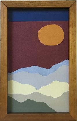 Colagem Montanhas Vinho