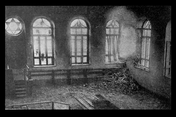 Synagogue destroyed by shells