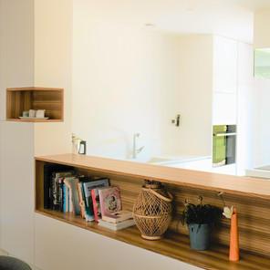 Cuisine, modules de niches placage zebrano