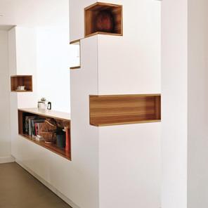 Cuisine modules de niches en bois