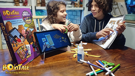 Kids playing the Boxitale Craft series
