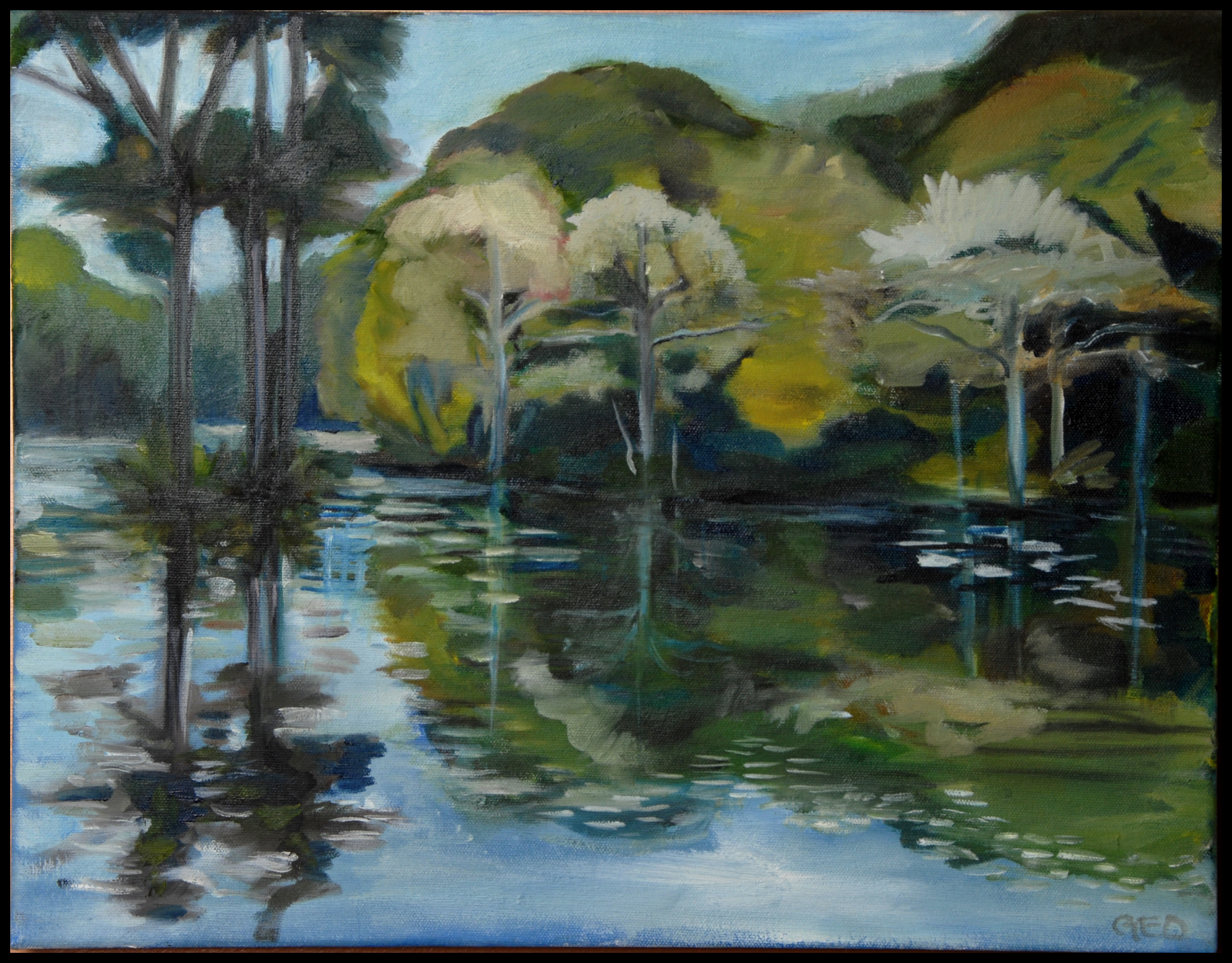 Adkins Pond 12x16 oil on canvas SOLD