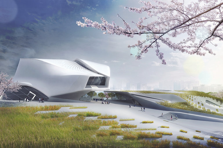 Architecture Informed by Technology Sustainability Innovation, Taichung Museum in Taiwan (propsal) by Tighe Architecture