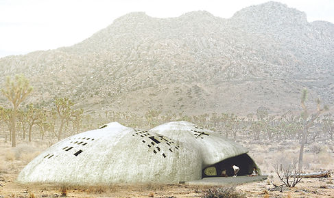 Architecture Informed by Technology Sustainability Innovation, Spray On House in Joshua Tree, CA by Tighe Architecture