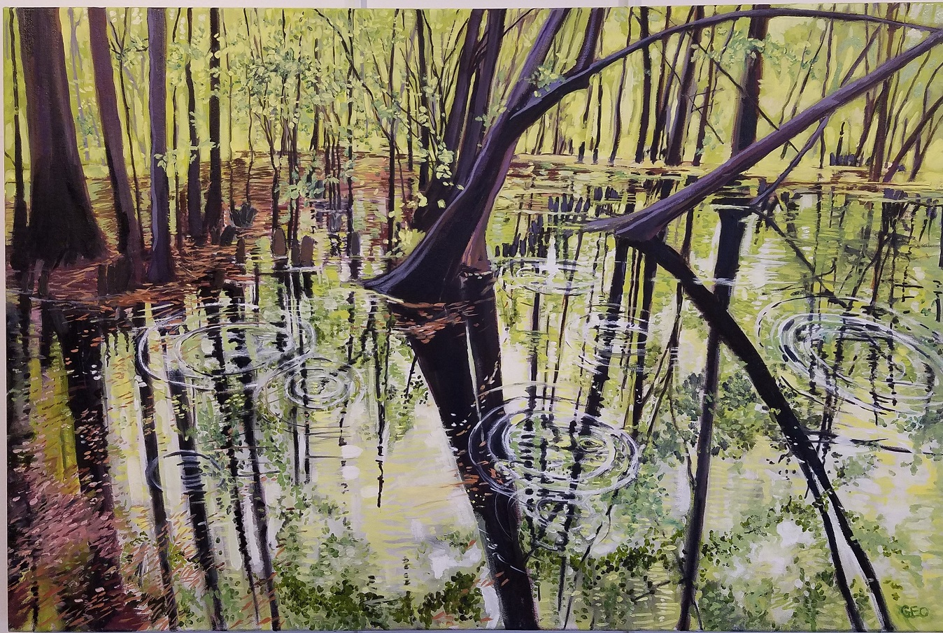 Pocomoke Spring 24 X 36 inches oil on ca