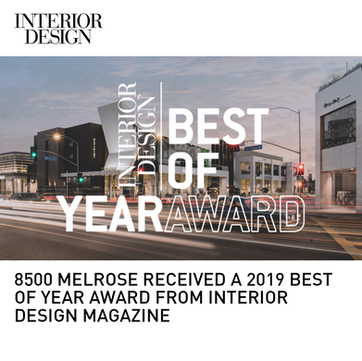 8500 Melrose Interior Design Best of Year Award