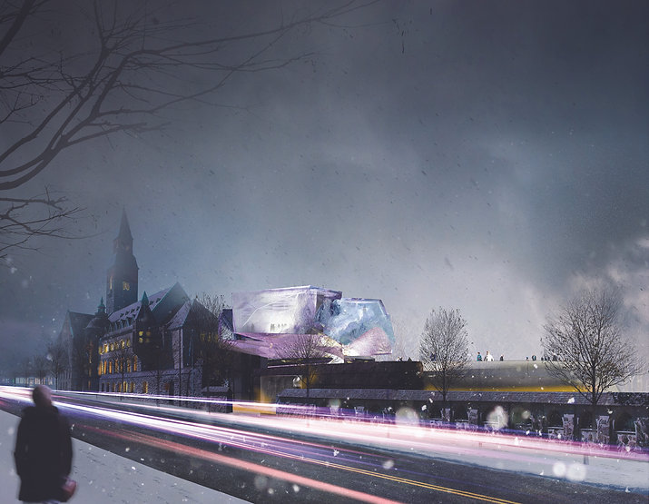 Architecture Informed by Technology Sustainability Innovation, National Museum Annex in Finland (propsal) by Tighe Architecture