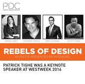 Rebels of Design Tighe Keynote Speaker PDC