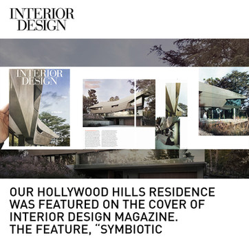 Hollywod Hills House Interior Design Magazine Cover