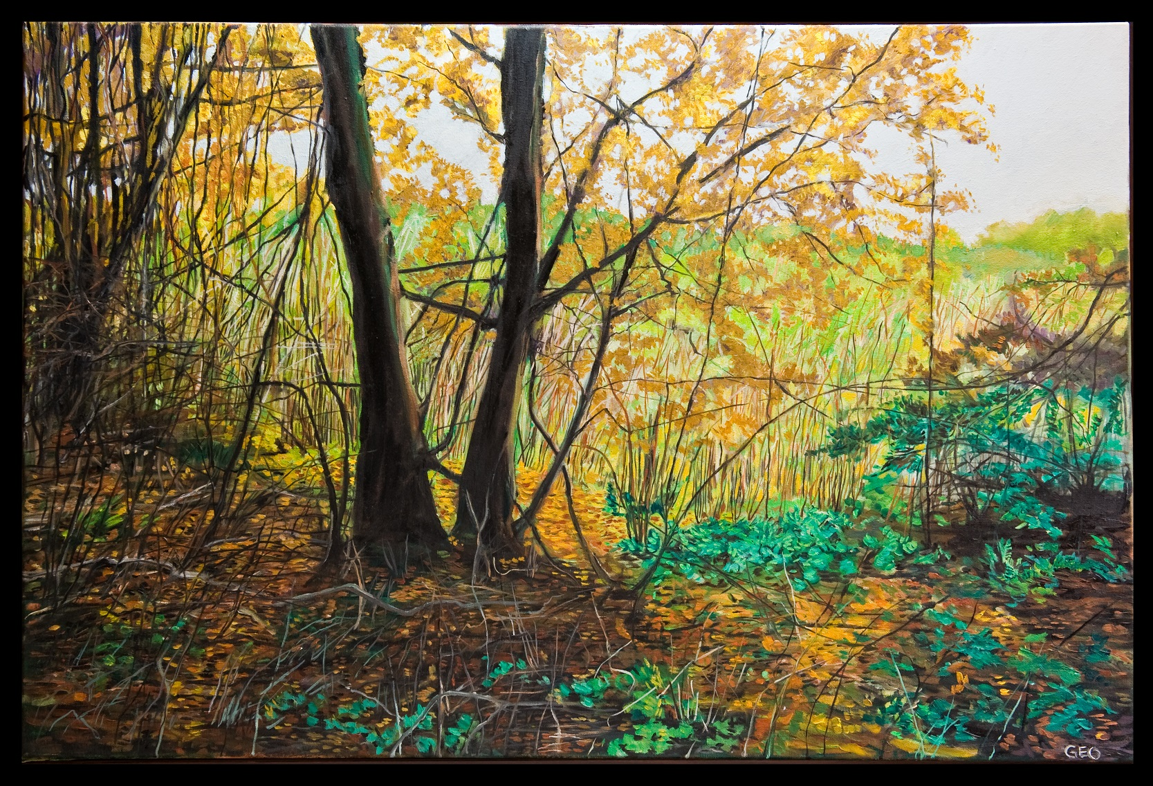 Edge of the Woods 24x36 oil on canvas