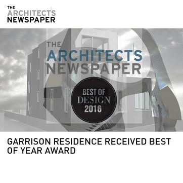 Garrison Architect's Newspaper Best of Year Award