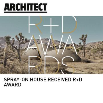 Spray On House R+D Award