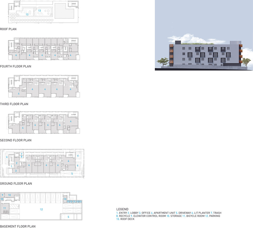 Architecture Informed by Technology Sustainability Innovation, Rosemont Mixed-Use in Los Angeles by Tighe Architecture
