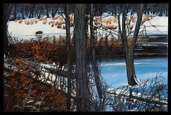 Tuckahoe Winter 24x36 oil on canvas