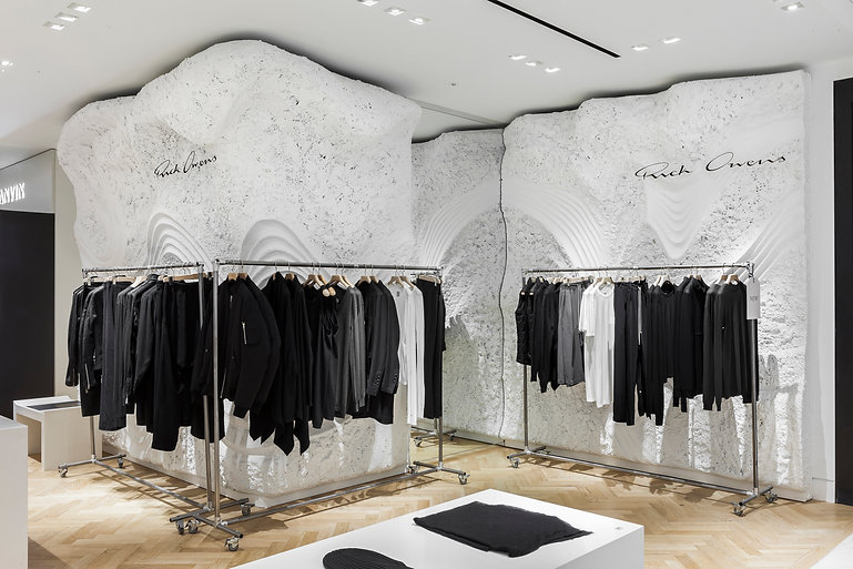 Architecture Informed by Technology Sustainability Innovation, Rick Owens, Selfridges in London by Tighe Architecture