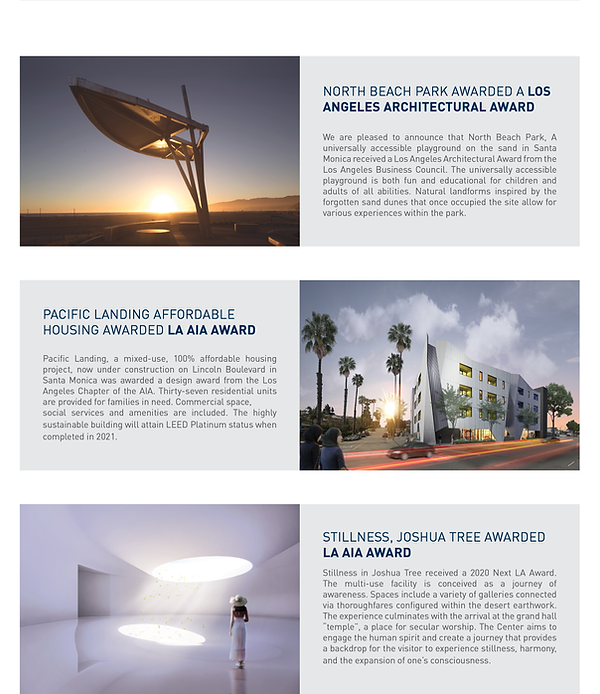 Architecture Informed by Technology Sustainability Innovation, Fall Newsletter 2020