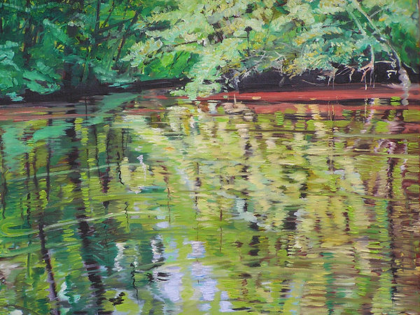 Dividing Creek 16 x 20 oil on canvas SOL