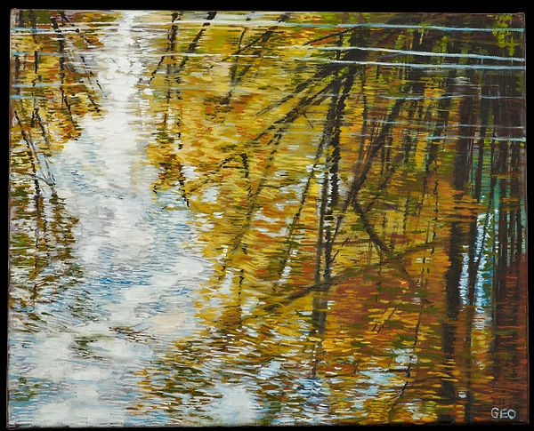 Fall Reflection 16 x 20 oil on canvas (1
