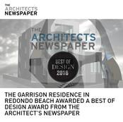 GARRISON BEST OF DESIGN AWARD