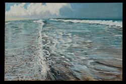 Assateague Summer Dusk 24 x 36 oil on ca