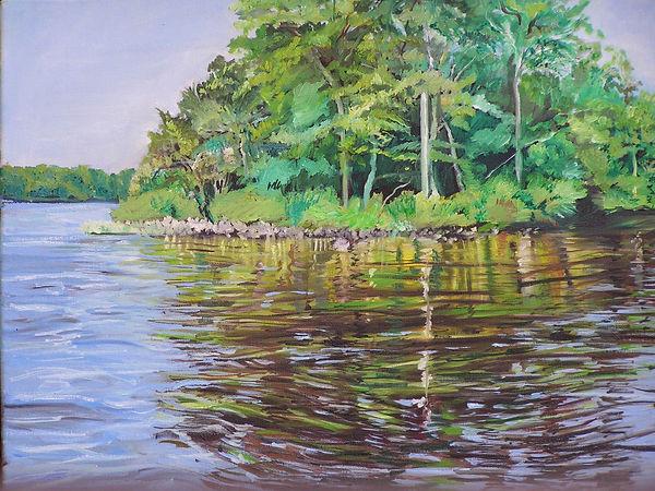 Pocomoke River 16x20 oil on canvas.SOLD