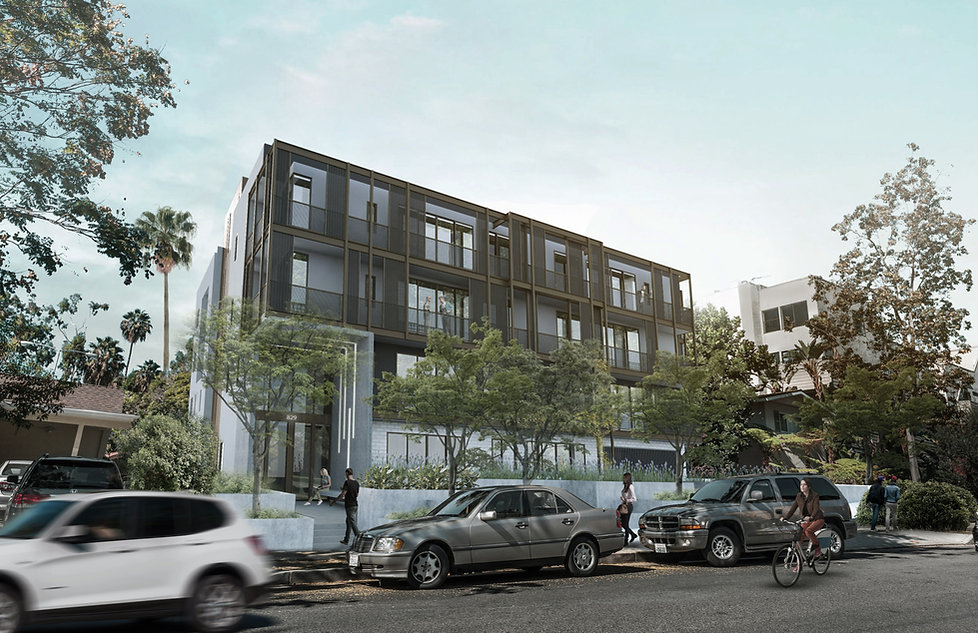 Architecture Informed by Technology Sustainability Innovation, Larrabee Apartments in West Hollywood by Tighe Architecture