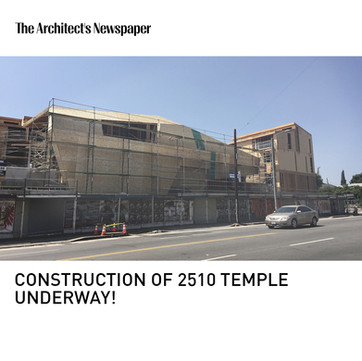 2510 Temple Under Construction Architects Newspaper