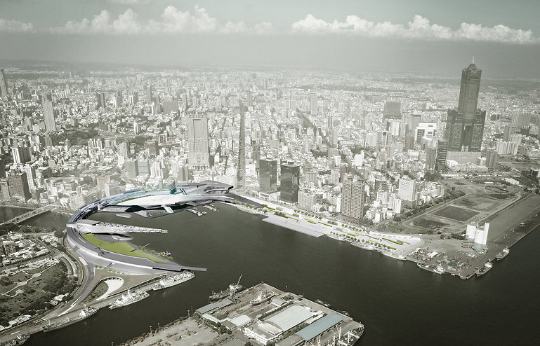 Architecture Informed by Technology Sustainability Innovation, Kaohsiung Center in Taiwan (propsal) by Tighe Architecture