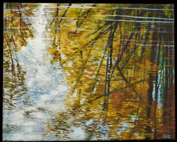 Fall Reflection 16 x 20 oil on canvas