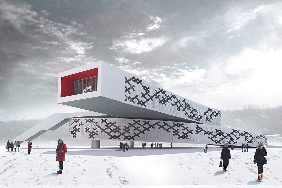 Architecture Informed by Technology Sustainability Innovation, Sochi Olympic Pavillion in Russia (propsal) by Tighe Architecture