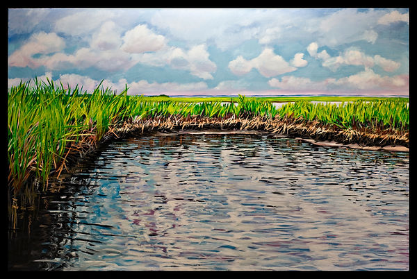 Assateague, Fresh Water Flats 24x36 oil